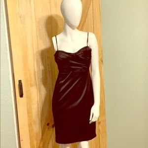 Black Form Fitted Formal Dress Size 2